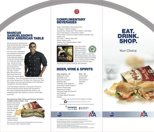 American Airlines Menu Page One