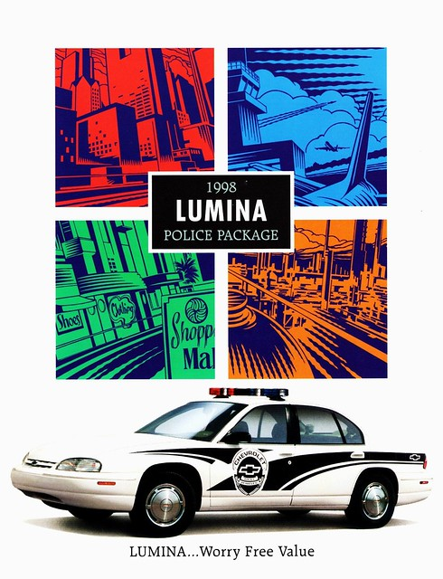 cars chevrolet police 1998 brochure package lumina
