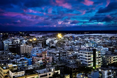 Metropolis (Shutterfreak ☮) Tags: clouds buildings river lights cityscape dusk shapes naturallight dhaka inkiad