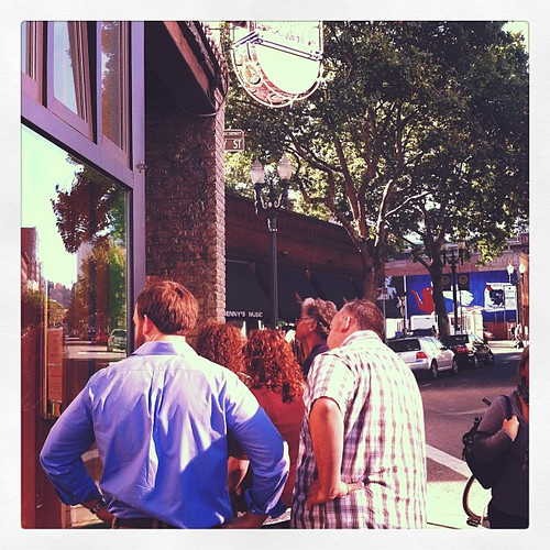 Queuing at a donut shop? America.