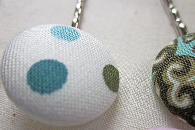 Polka Dot and Flourish Bobby Pin Set