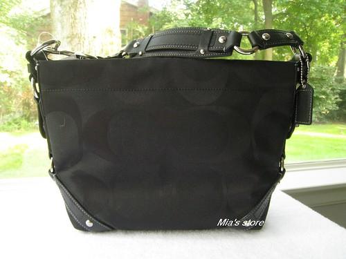 551535dc1f58 AUTH Coach Purse 18792M Signature Carly Shoulder Tote Bag New BLACK ...