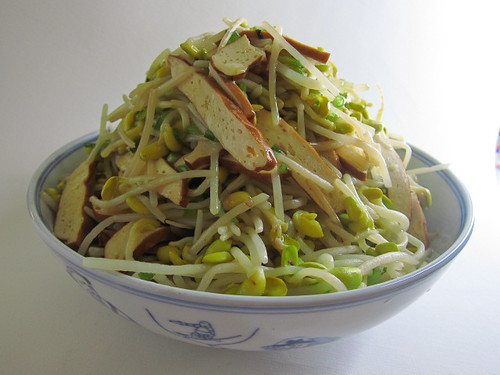 chinese, recipe, Soybean Sprouts, sprouts, stir fry, stir-fry, tofu, vegetable, 清炒, 大豆芽, 豆幹