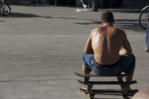 Sitting on Skateboards