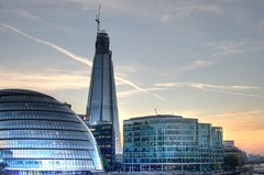 London Shard and City Hall (npmeijer) Tags: city england london hall shard hdr