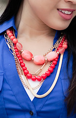 The Limited coral multi-strand necklace