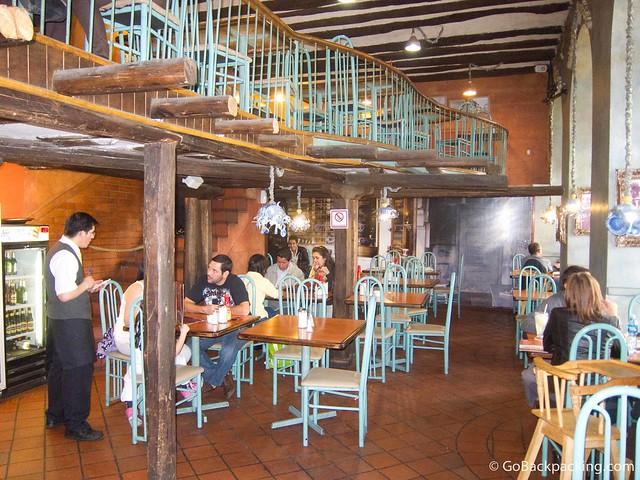 Inside Raymipampa restaurant