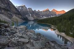 Moraine Lake (Jeremy Duguid) Tags: park travel blue trees lake mountains nature canon landscape rockies rocks jeremy canadian glacier national banff 1000 moraine duguid coth 50d dragondaggeraward coth5 jeremyduguid