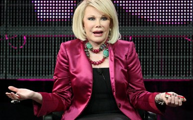 Joan Rivers, looking incredulous