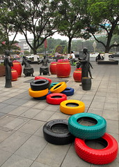 Unannounced Tires in the Downtown Kunshun Core (Jason Michael) Tags: china color colour downtown suzhou tires colored imaging xavier coloured services core jiangsu jasonmichael jasonxmichael xavierimagingservices