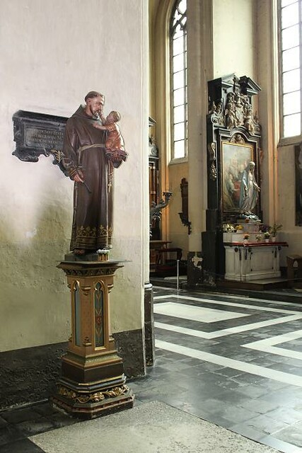 wooden statue in church