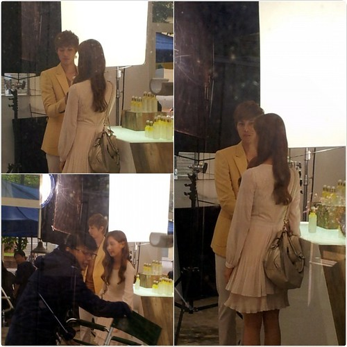 Kim Hyun Joong TFS New CF Shooting with Seohyun (SNSD)
