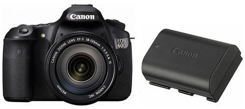 Canon 60D plus LP-E6 -- Battery Life