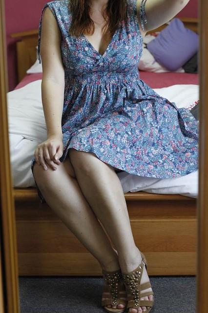 robe à fleurs hm short zara tenue du jour outfit ouchilistic