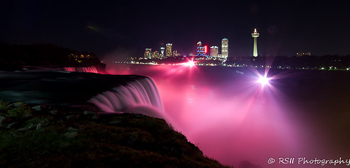 Niagara Falls Breast Cancer Awareness tribute - [Explored 10/10/11 - #33]