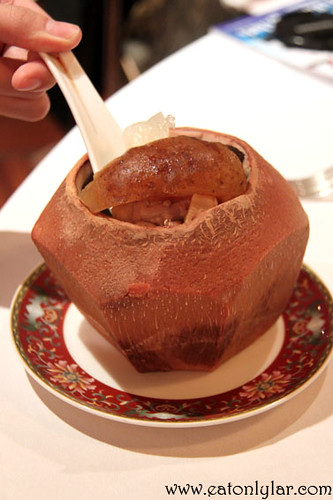 Double-boiled sea treasures in whole coconut, Lai Ching Yuen