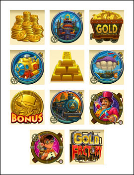 free Gold Factory slot game symbols