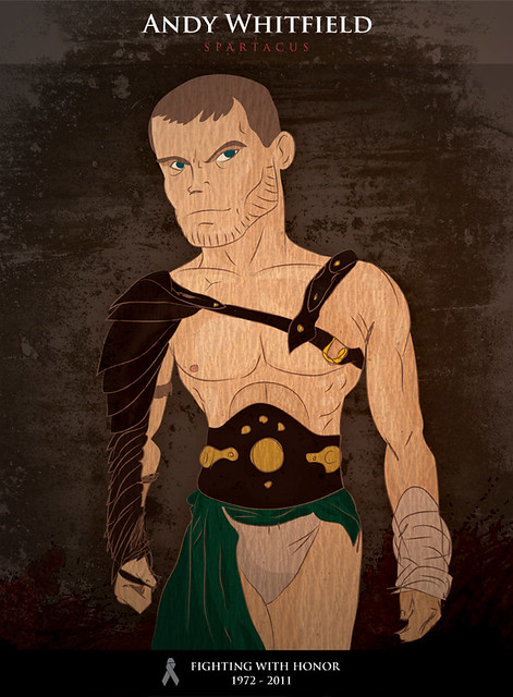 Andy Whitfield - Tribute Illustration