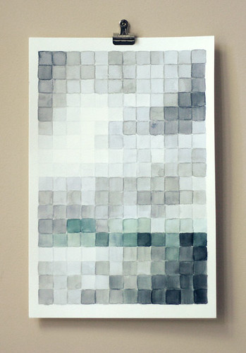 Pixelated watercolor