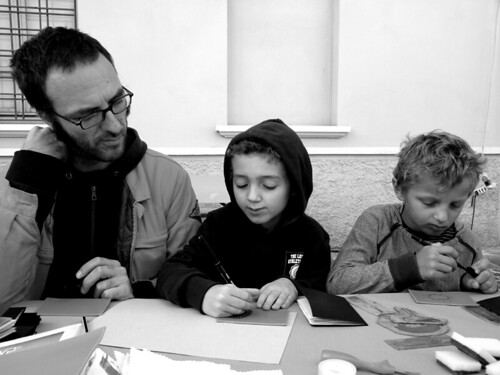 Printing Workshop with kids and papà! by la casa a pois
