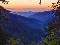Smoky Mountain sunset (photogg19) Tags: sunset nikon tennessee valley gatlinburg smokymountains newfoundgap mountainvista greatsmokymountainnationalpark d7000 mortonsoverlook