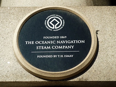 Photo of Thomas Henry Ismay and Oceanic Navigation Company black plaque