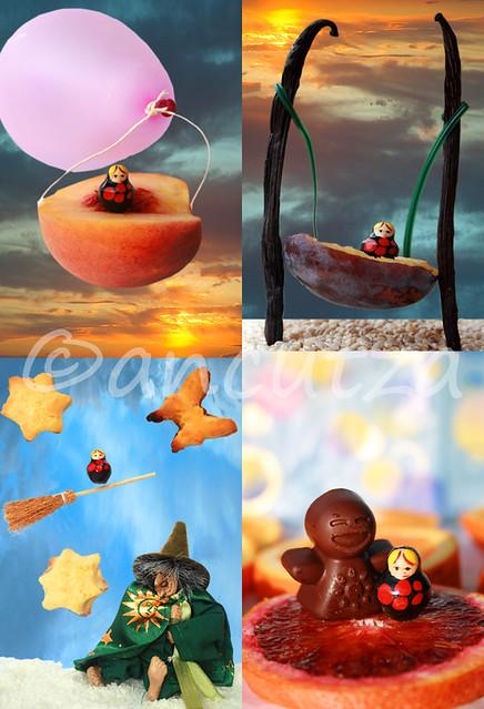 foto immagini fantasiose con frutta divertente