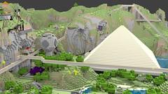Stu's Pyramid (Gnu2000) Tags: render blender minecraft mcobj