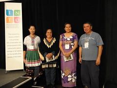 來自斐濟, 加拿大以及台灣的代表,齊聚國際國民信託年會,分享原住民在傳承文化 與保存文化與自然資產的經驗