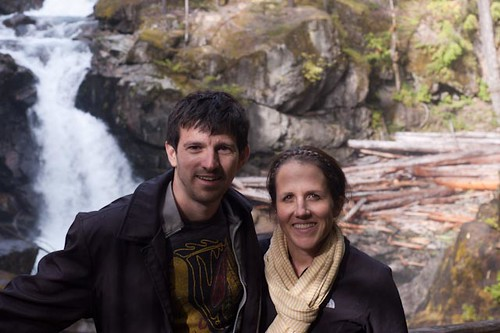 Brian and Courtney at Silver Falls Mt Rainier