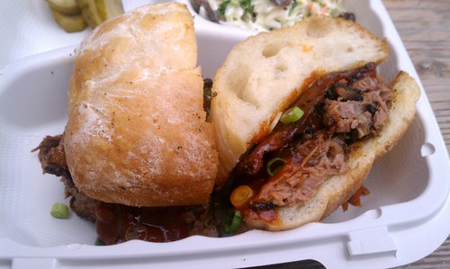 Wood Smoked Brisket Sandwich from Briskets