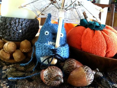 Indigo Totoro by acornbud