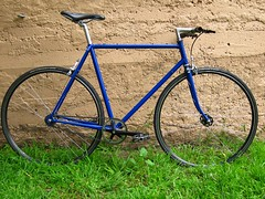 Flatbar Hillman Singlespeed (ah_blake) Tags: blue bike bicycle singlespeed fixed fixie velocity hillman aerohead
