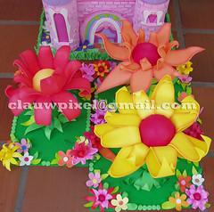 Flores. (Vintage Studio. Artes Plsticas e E.V.A.) Tags: de da sininho festa decorao tinker peas apoio floresemeva