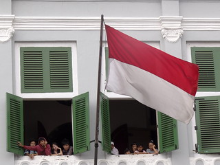 Visitors with Indonesian Flag - Retribution Mu...