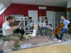 シュトイデ四重奏団とリハーサル