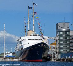 Royal Yacht Britannia now decomissioned and a tourist attraction at Leith (Beer Dave) Tags: ship yacht royal tourist leith attraction britannia decomissioned