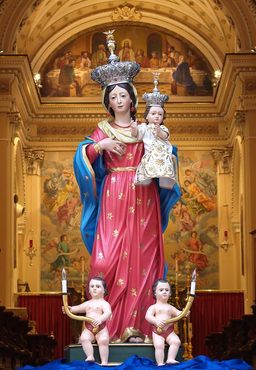 Madonna della Libera patrona de Pietrelcina en Santa Maria de los Angeles