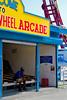 Bored (elrina753) Tags: nyc newyorkcity people usa newyork brooklyn unitedstates parks amusementpark arcades themepark astroland astrolandpark