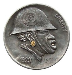 Goetz Black Soldier on Buffalo Nickel