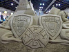 In Remembrance of Sept. 11, 2001 - sand sculpture