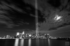Tribute In Light (dencioteks/D. Lopez) Tags: nyc ny worldtradecenter 911 groundzero tributeinlight freedomtower wtc1