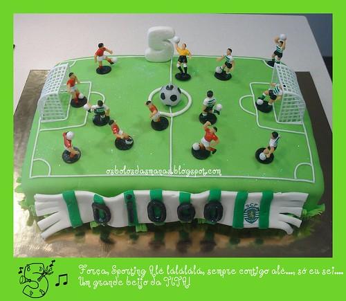 Bolo Campo de Futebol Sporting vs Benfica by Osbolosdasmanas