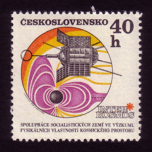 Czech stamps: Geophysical satellite