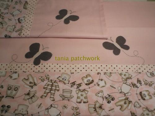 Lençol de Carrinho Roupinhas no Varal by tania patchwork