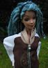 118 (Alrunia) Tags: dreadlocks outdoors doll handmade ooak barbie yarn mohair dreads fashiondoll mattel reroot rebody fashionfever 16thscale playscale makeupchic yarnreroot barbiedreadlocks