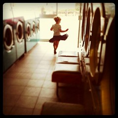 226/365 (Aneta.Morze) Tags: road girl giant dancing palmerston machines washing laundrette iphone boscombe instagram