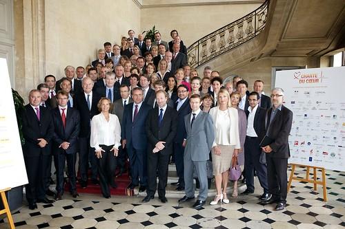 Xavier Bertrand (Ministre du Travail, de l'Emploi et de la Santé), l'Association RMC/BFM et tous les signataires de la Charte du Coeur by Arash Derambarsh