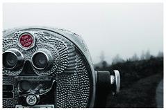 Astoria Bokeh (GreenIMAGES) Tags: texture fog oregon digital canon blackwhite bokeh foggy roadtrip 25 astoria pacificnorthwest tamron viewfinder xti selectcolor 1750mm 400d greenimages
