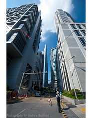 secret (matteroffact) Tags: china city blue sky people tower skyline modern buildings workers construction alley nikon asia skyscrapers shanghai jin chinese sunny andrew future mao vista pudong jinmao futuristic d3 highrises puxi lujiazui swfc shanghaiworldfinancialcenter rochfort andrewrochfort